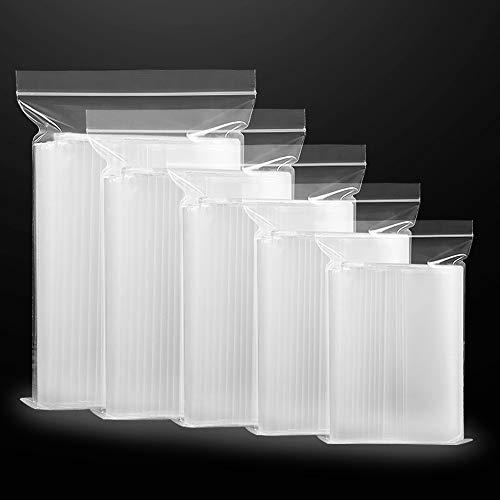 Sachets Plastiques Zip Sacs en Plastiques Transparents Refermables 400 Pièces Pochon Plastique Reutilisable (5 Tailles)