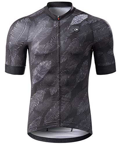 RION Men's Cycling Jersey Breathable Bike Shirt Short Sleeve Tops Pockets (New Size Chart)