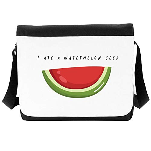 I Ate A Watermelon Seed Fruit and Vegetable Pun Jokes Crossbody Strap Shoulder Bag - Large