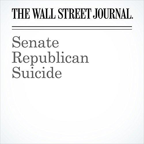 Senate Republican Suicide copertina