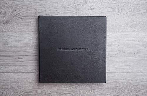 Hochzeit Fotoalbum, Scrapbook mit Schwarzen oder Weißen Seiten, Leder Reisealbum, Großes Familienalbum, Echtes Italienisches Leder Album, Handgemachtes Album