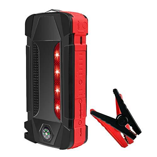 AKT Autobatterien Starthilfe 22000mAh 2000A 12V Tragbarer Notstarter am Ausgang Power Bank Car Booster Startvorrichtung Wasserdicht,Red