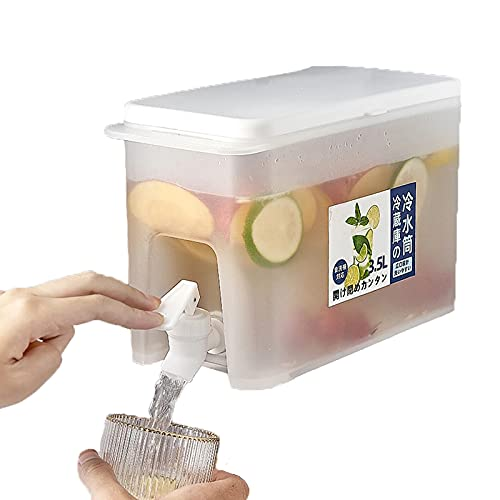 Dispensador de Bebidas de 3,5 L-Fuente de Bebida con Grifo, Refrigerador hervidor de Agua fría para Fiestas al Aire Libre y Uso Diario