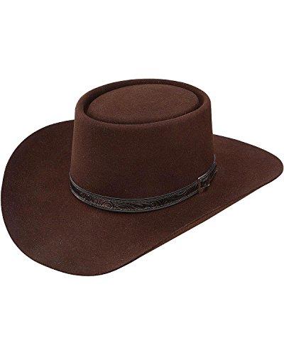Stetson Men's 4X Buffalo Revenger Felt Gambler Hat (7 3/8, Chocolate)