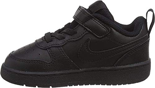 Nike Baby-Boys Court Borough Low 2 (TDV) Sneaker, Black/Black-Black, 26 EU