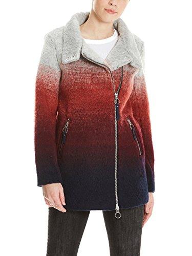 Bench Biker Jacke Kurzer Mantel in mehrfarbiger Filz-Optik Multicolour Stripe M