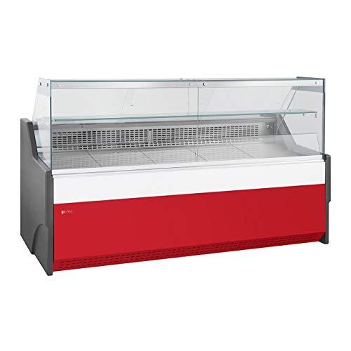 Royal Catering Vitrina Refrigerada RCKV-AMS (470 L, 690 W, Vidrio templado, Iluminación LED, Refrigerante R290, Cámara de almacenamiento) Rojo