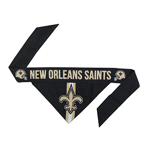 Littlearth NFL New Orleans Saints Pet Bandanna, Medium,Gold