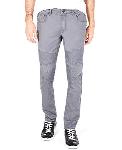 New INC Mens Gray Skies Stockholm Skinny FIT Moto Jeans Size 38X34