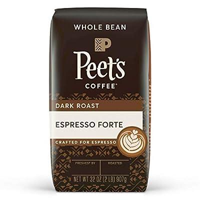 Peet's Coffee Espresso Forte, Dark Espresso Roast Whole Bean Coffee, 32 Ounce