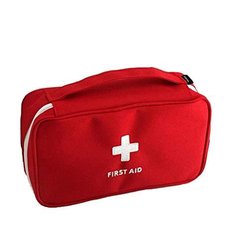Cylficl Kit di Pronto soccorso Erste-Hilfe-Kit Leere Beutel, Notüberlebens Beutel Medical-Speicher-Beutel-Kasten, Medizin Paket Portable mit Compartments