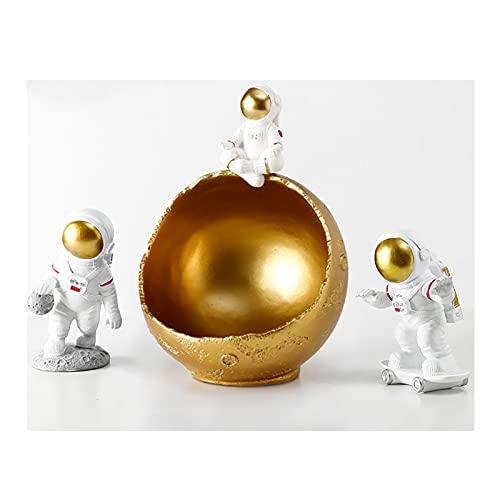 DUNAKE (3 PCS) Escultura Decorativa,Cuenco de Almacenamiento de Llaves,Caja De Almacenamiento Creativa De La Caja De Almacenamiento Creativa Creativa De Cajas De Joyería del Animal (Color : Gold)