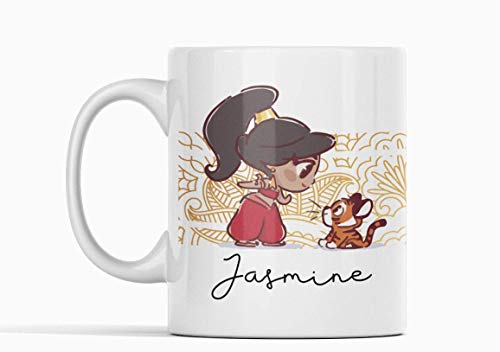 Desconocido Taza Jasmine Aladdin. Princesa película. Genio lámpara