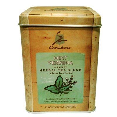 2 - Caribou Tea Tins 20 - Sachets per Tin (Mint Verbena Tea)