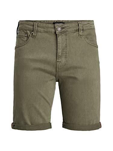Jack & Jones JJIRICK JJICON Shorts AMA STS Pantalones Cortos, Verde Oliva, M para Hombre