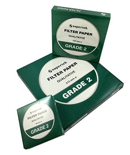 Filter Paper, Qualitative, Grade 2, 215 mm (Diameter) Pack of 100 Sheets