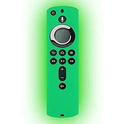 ZUHANGMENG - Custodia protettiva per telecomando in silicone, antiurto, per Fire TV Stick 4K/Fire TV (3a generazione)/Fire TV Cube, 6DLJ8U3012356NHAZDQKJAX37, Verde luminoso., Taglia unica