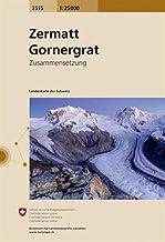 Swisstopo 1 : 25 000 Zermatt Gornergrat (Landeskarte)