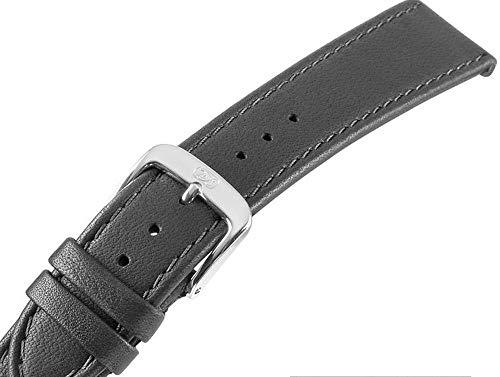 schwarzes Uhrenarmband für Herrenuhren Kalbsleder Men 22 mm Uhrband schwarz