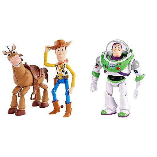 Disney Toy Story 4 Pack de Aventuras de Woody y Perdigón, Juguetes niños + 3 años (Mattel GDB91) + Mattel- Disney Toy Story 4-Figura básica Buzz Lightyear con Casco