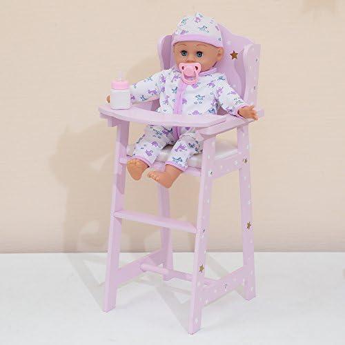 Olivia s Little World 16 Baby Doll Furniture High Chair Nursery Feeding High Chair Purple 10 product image