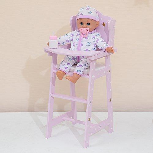 Olivia 's Little World td-0098ap Twinkle Stars Princess Baby Doll High Chair