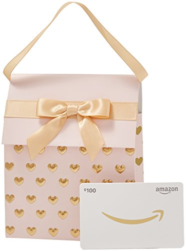 Amazon.ca $100 Gift Card in a Pink and Gold Gift Bag