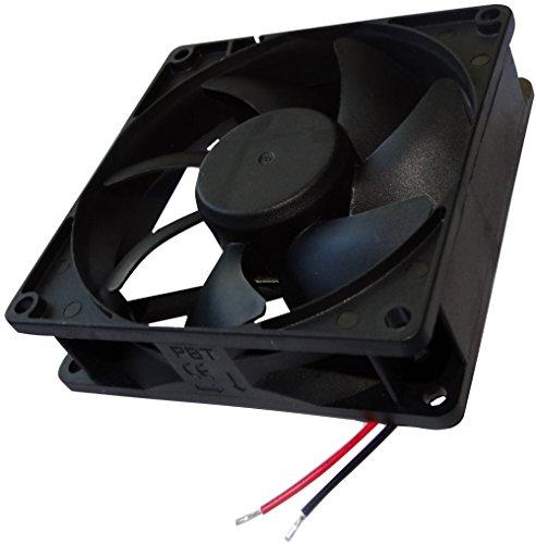 AERZETIX: Ventilador para Caja de Ordenador 24V 92x92x25mm 87,55m3/h 34dBA 3000rpm 2.1W 0.087A Deslizante 2 Cables 24AWG C14586