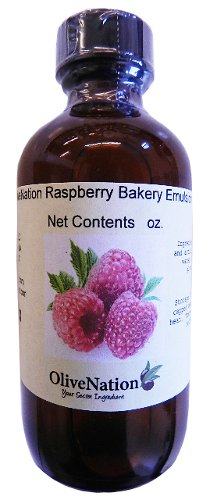 OliveNation Raspberry Baking Emulsion, Water Soluble Flavoring, Kosher, Gluten Free, Vegan - 8 ounces