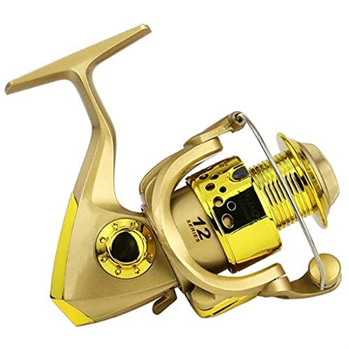 LQJin Tackle de Pesca 5.5: 1 Relación Pesca Pesca Reel SC1000-7000 Tonos de Pesca Trels de Pesca Profesional (Color : Pescar Wheel Gold, Spool Capacity : 2000 Series)