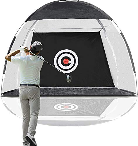 Review Golf Training Net, Golf Hitting Nets with Target Backyard Driving Range Swing Chipping Golfin...