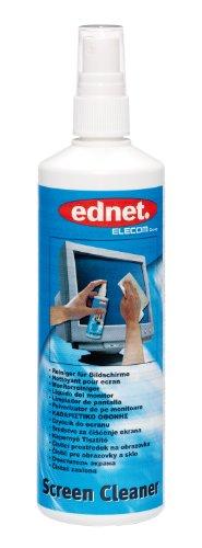 ednet 63005 , Bildschirmreiniger für Monitor-Displays, Glas- und Kunststoffoberflächen , 250 ml , Weiß