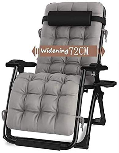 chair Patio Reclining Sun Loungers Chaise Lounges Outdoor Garden Rocking Deck for Beach Camping Support 440lbs (Color : with Gray Cushions),Colour:Without Cushions