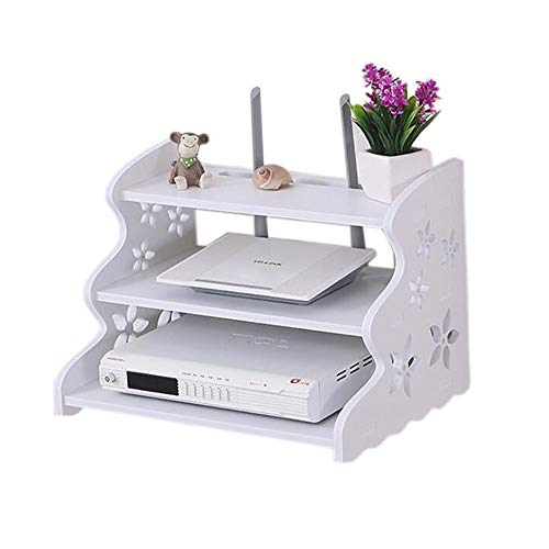 HAI+ Schwebendes TV-Regal, dreilagige Wandhalterung, WLAN-Router-Ständer, Set-Top-Box, Streaming-Media-Ausrüstungs-Etui