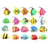20 piezas de acuario artificial peces de plástico realista artificial movimiento flotante falso adorno de peces para tanque de camarones peces artificiales para acuario