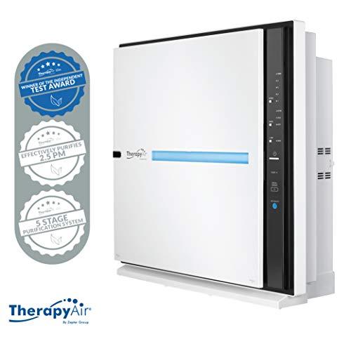Therapy Air von Zepter Luftreiniger für Raucher und Allergiker Air Purifier Luftwäscher Wohnung mit 6-1 System inkl Ionisator bei 328m³ CADR Leistung mit HEPA und gegen Pollen Allergie Air Cleaner