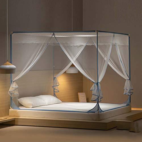 ZJUAN Pliage Chambre à Coucher De La Maison De Lit Moustiquaire,rectangulaire Respirant Idéal Filet De Lit,Anti-Moustique Verrière De Lit B 180 * 198 * 170(cm)