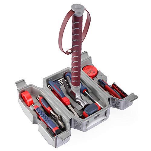 """Werkzeug-Set, """"Avengers Marvel Legends""""-Serie, Mjölnir-Hammer, tägliche Reparatur, gefüllter Haushalts-Werkzeugkoffer, Thor's Hammer-Zubehör-Set"""