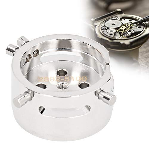 ROMACK Herramienta de reparación de Relojes, Material de Acero Inoxidable Accesorios prácticos Máxima Durabilidad Base del Movimiento del Reloj Herramienta Fija dedicada para el Movimiento del