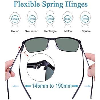 Carfia Polarized Sunglasses Man Metal Square Frame 100/%UV400 Protection for Driv
