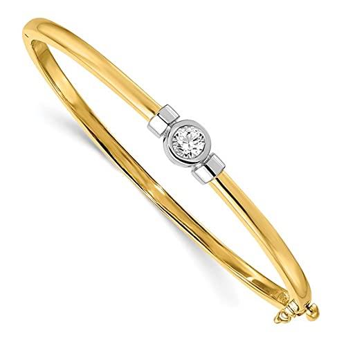 Jewelry-14k Two-tone VS Diamond bangle