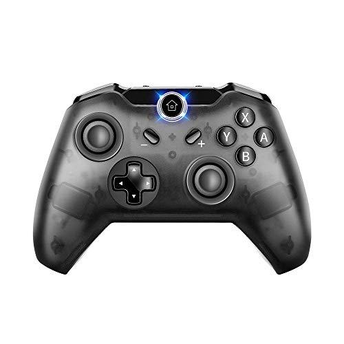 Controller Switch Pro, PowerLead Wireless Gamepad Joystick compatible con Console Nintendo Switch e PC Windows, supporta Gyro Axis & Dual Shock