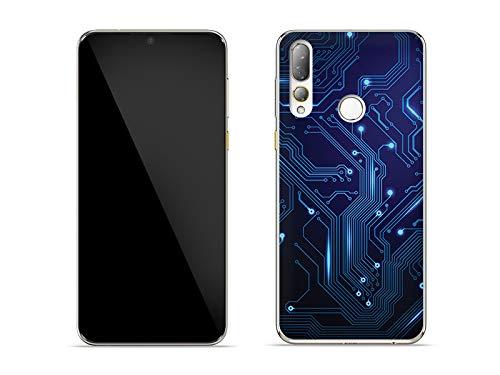 etuo Hülle für HTC Desire 19 Plus - Hülle Fantastic Hülle - integrierte Schaltkreise Handyhülle Schutzhülle Etui Hülle Cover Tasche für Handy
