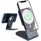 Basynol MagSafe - Soporte de cargador para teléfono móvil Magsafe (aleación de aluminio, compatible con iPhone 12 Pro Max 12 Mini (cargador no incluido)