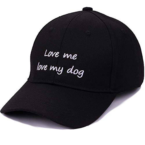 Casquette de baseball amants de chien été casquette de baseball femmes casual lettre broderie coton chapeau chapeaux pour les filles unisexe noir vintage chapeau hommes Casquette de Baseball de Sport
