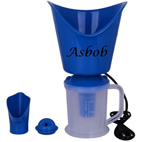 Asbob® 3 In 1 Steam Vaporizer, Nose Steamer, Cough Steamer, Nozzle Inhaler & Nose Vaporiser (Blue)