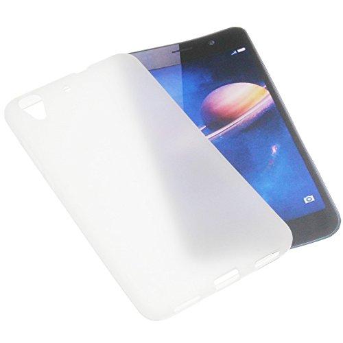 foto-kontor Funda para Huawei Y6 II Dual 5,5 Funda Protectora de Goma TPU para móvil Transparente Blanca