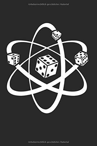 Brettspiel Würfel Atom: Würfel & Atom Notizbuch 6'x9' Spielfigur Geschenk für Brettspiele & Spielfiguren