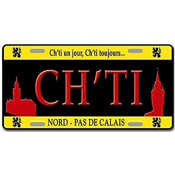 PLAQUE AMERICAINE COLLECTION REGION DE FRANCE CHTI NORD PAS DE CALAIS