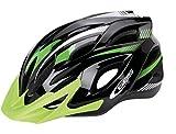 Ecoshirt 5I-OI0K-TNWI Casco Bike Helmet Casque Helme Ges Ray, M, L MTB Road Fox Rock Shox Stickers Pegatinas Autocollant, Negro Verde Talla L